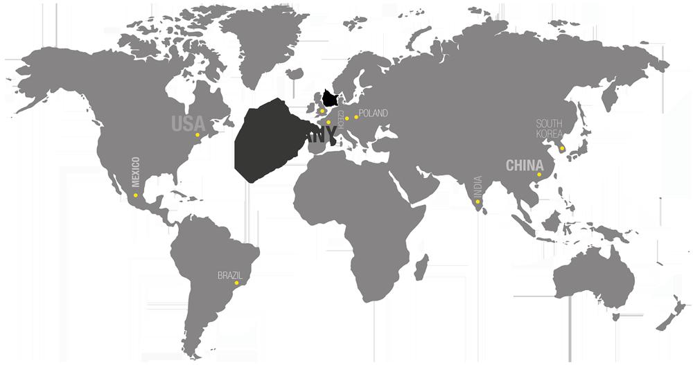 Weltkarte PKD Standorte