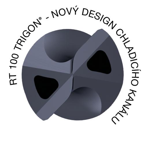 RT 100 Trigon carbide bit - coolant duct design